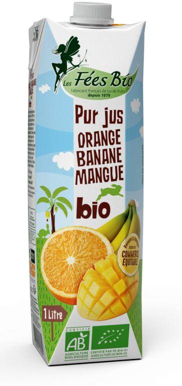 Jus d'orange banane mangue 1L